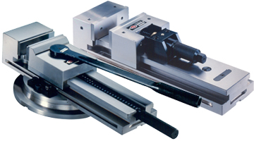 Mechanical, hydropneumatic and hydraulic modular vices for milling machines and machining centers, grinding vices